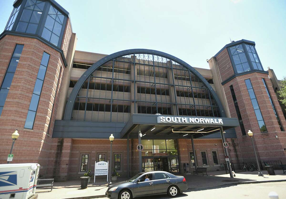 The South Norwalk Railroad Station Parking Garage will undergo repairs and upgrades in Norwalk, Conn. on Thursday, May 27, 2021.