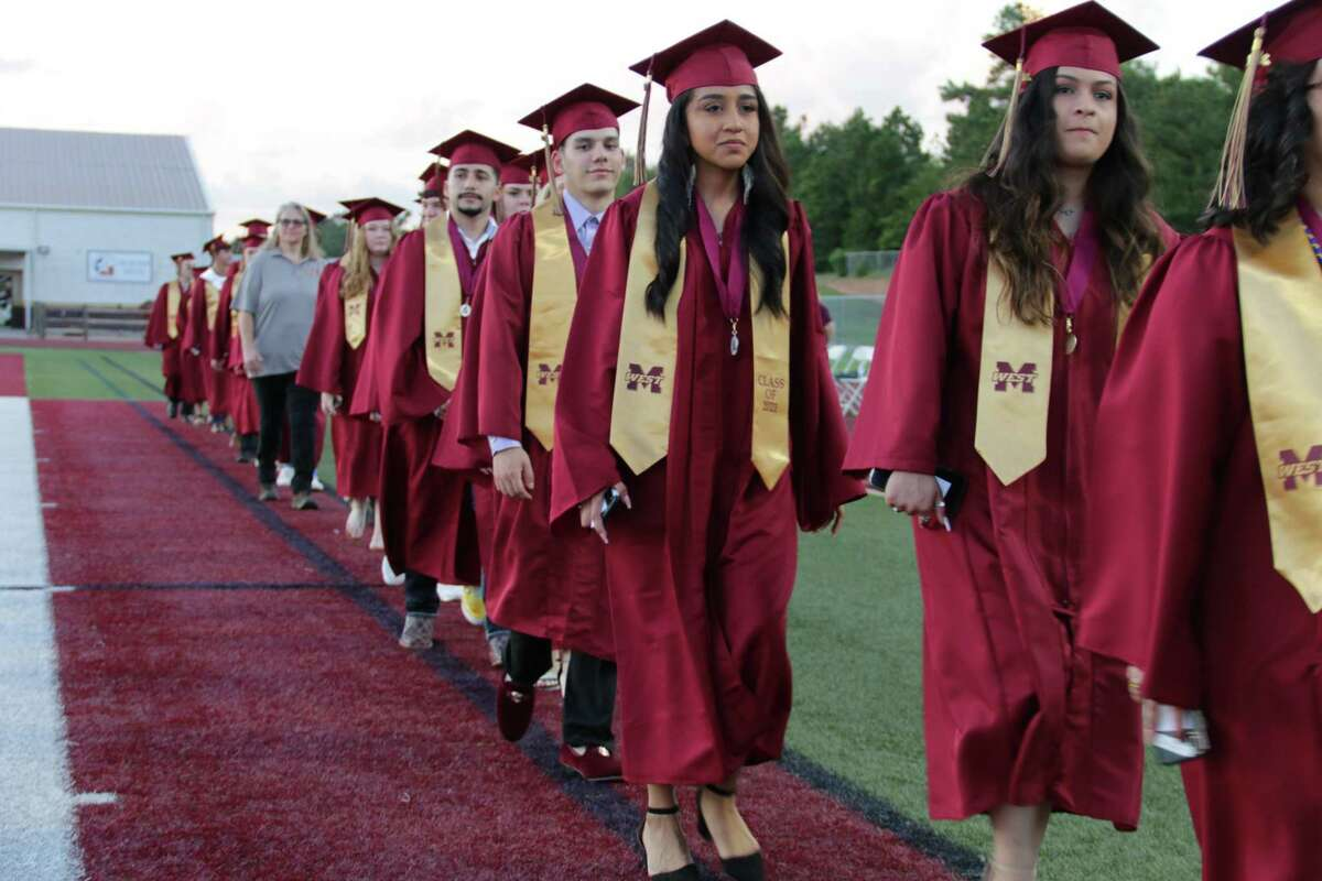 Magnolia West High School holds a graduation ceremony for the Class of 2021 at Magnolia West's stadium on Saturday evening, May 29.