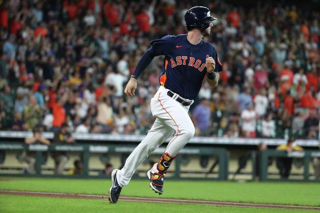 Houston Astros right fielder Kyle Tucker (30) rounds the bases after hitting 3-run home run off San Diego Padres starting pitcher Blake Snell during the first inning of a major league baseball game Sunday, May 30, 2021, at Minute Maid Park in Houston. Photo: Brett Coomer, Staff Photographer / © 2021 Houston Chronicle
