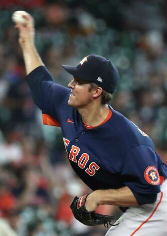 Houston Astros starting pitcher Zack Greinke pitches against the San Diego Padres during the fourth inning of a major league baseball game Sunday, May 30, 2021, at Minute Maid Park in Houston. Photo: Brett Coomer, Staff Photographer / © 2021 Houston Chronicle