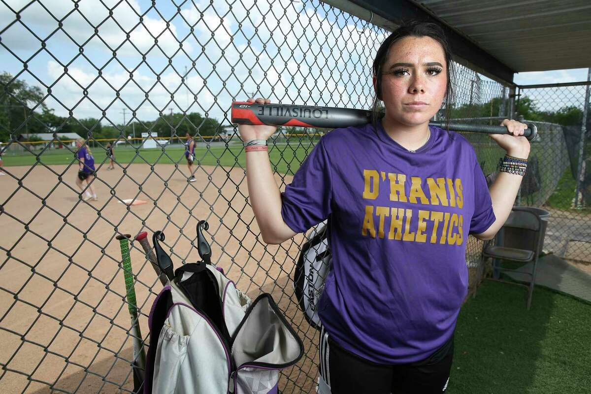 D'Hanis softball pitcher Marissa Santos Santos, the UIL 2019 state championship game MVP, has helped the team back to the state tournament after enduring a tough bout with COVID-19 last year.