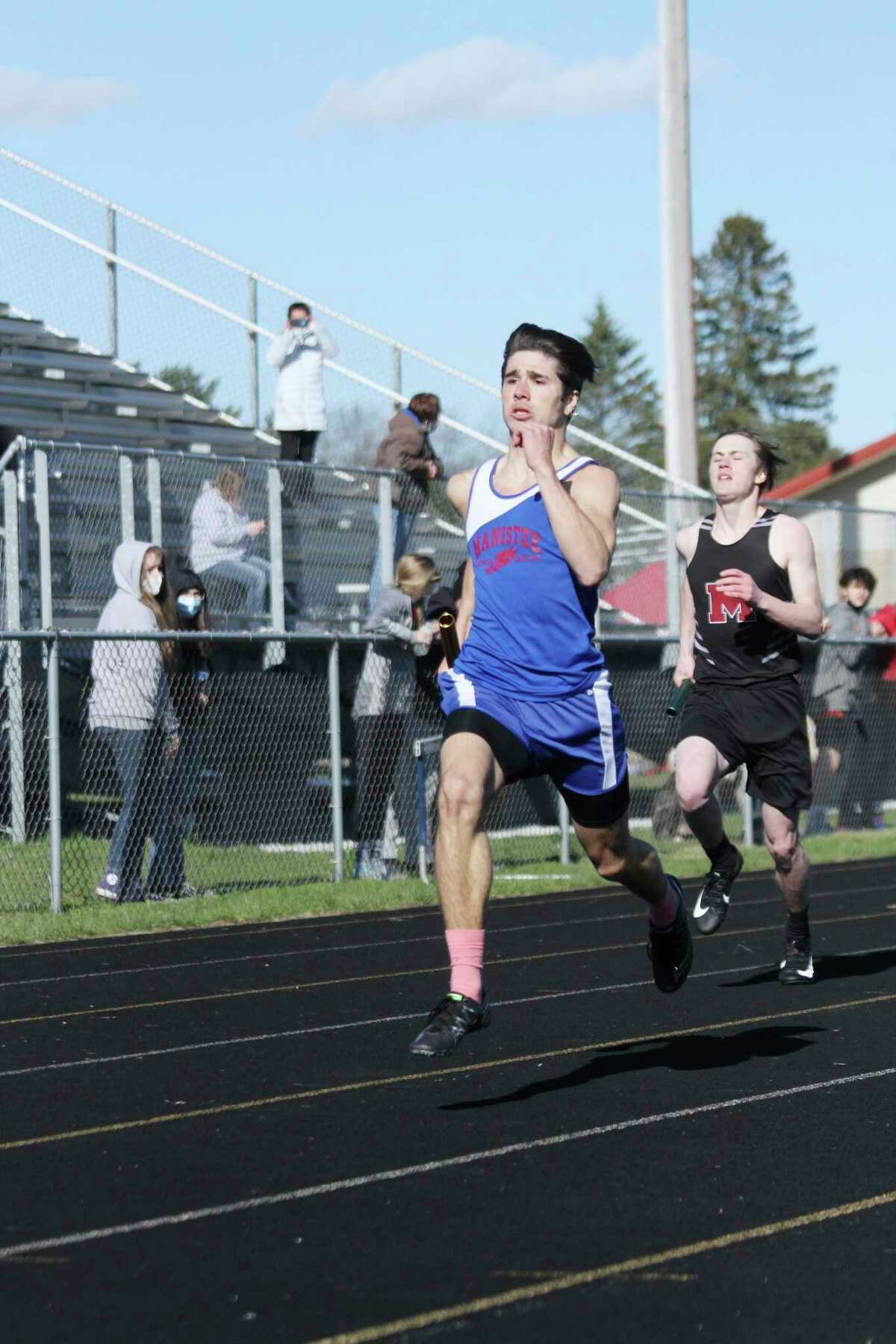 The Manistee Catholic Central boys track and field teamwas paced by their standout senior sprinter Mateo Barnett, who won the 400 meters in a personal record time of 50.92, during theMichigan Interscholastic Track Coaches Association (MITCA) team state meet in Mount Pleasant on Saturday. (News Advocate file photo)