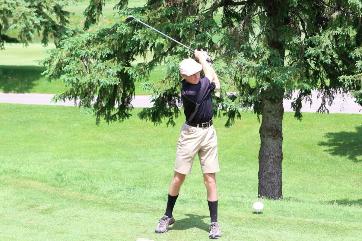 TJ Blausey golfs at Grand Traverse Resort. (Record Patriot file photo)