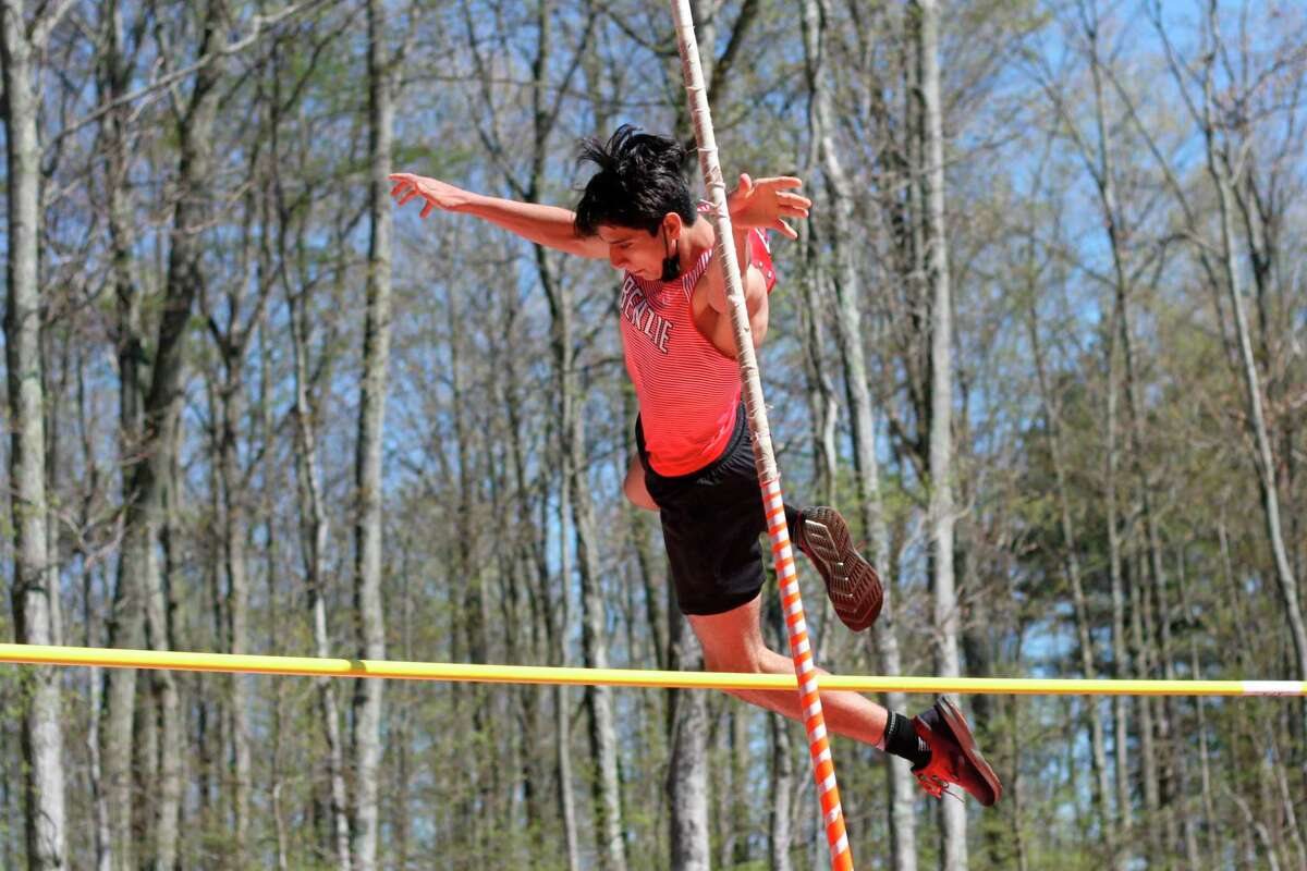 Noah Murphy competes in the pole vault. (Record Patriot file photo)