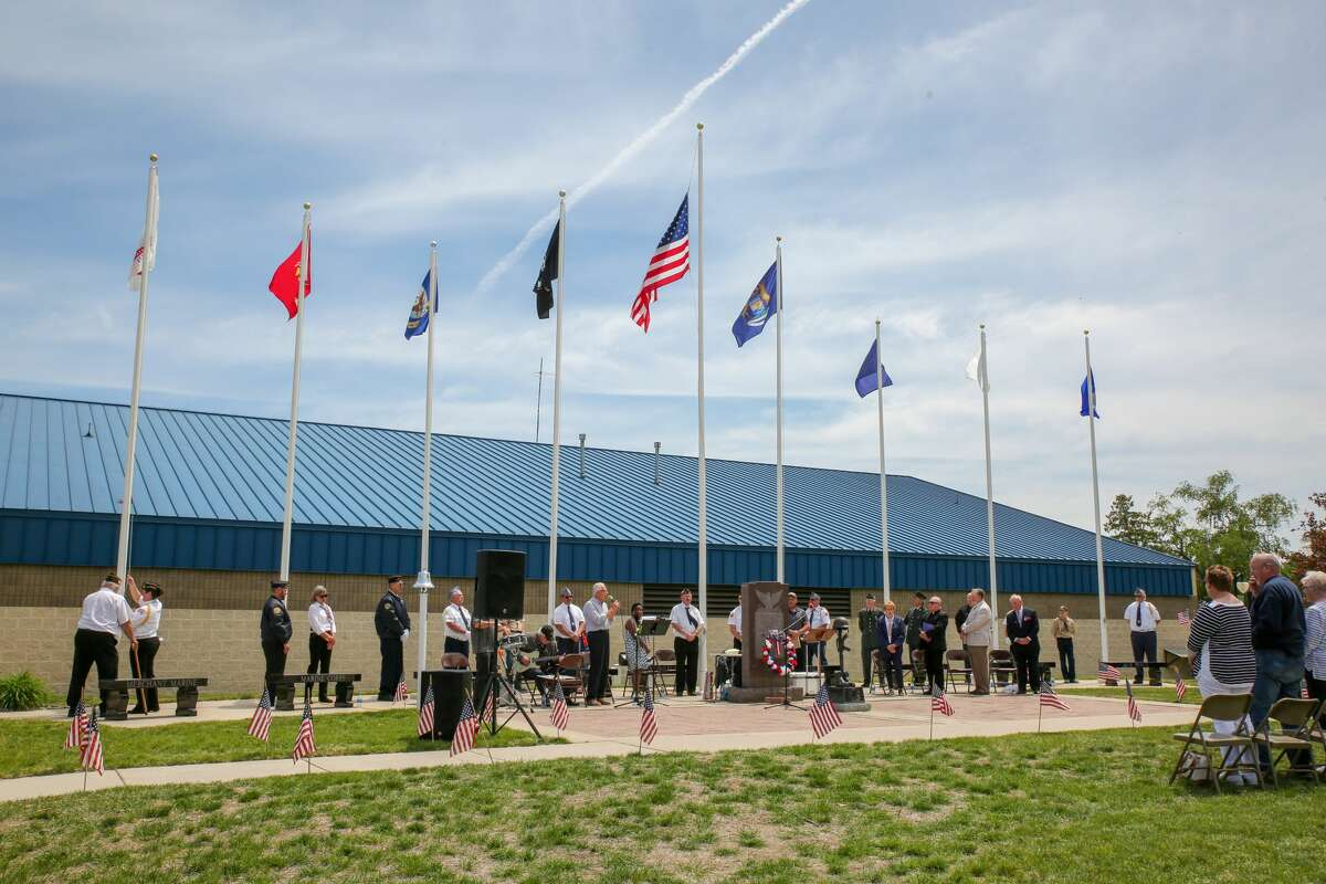 Veterans and Port Austin residents honor those veterans who have been lost during a Memorial Day service Monday, May 31.