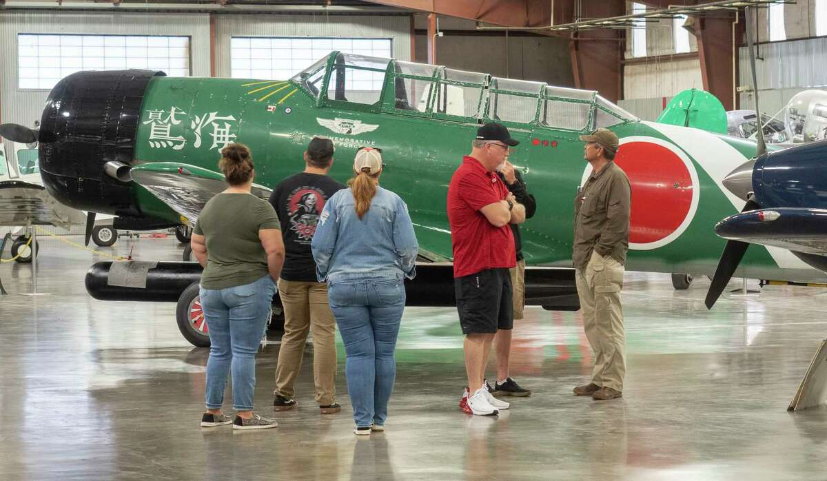 Families come out to an open house, lunch and Memorial Day Observance 5/31/2021 at the CAF, Commemorative Air Force Museum. Tim Fischer/Reporter-Telegram