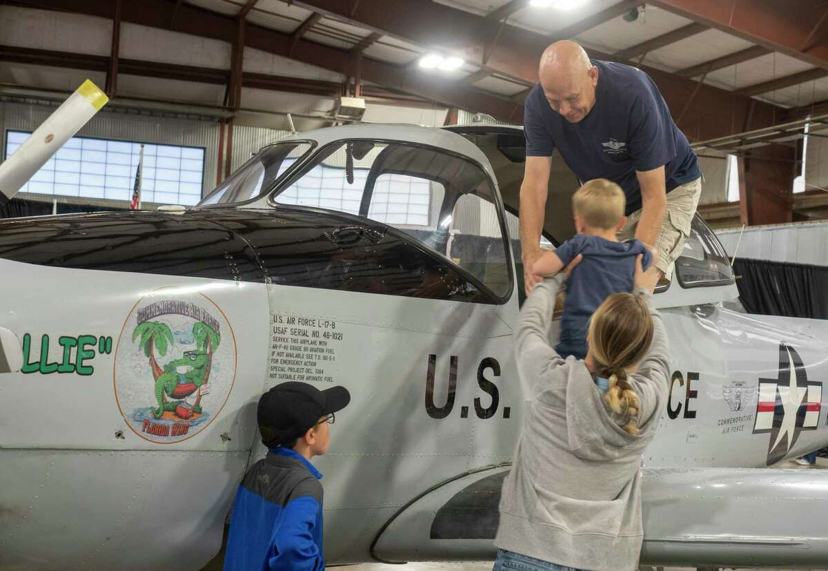Families come out to an open house, lunch and Memorial Day Observanc in May at the CAF, Commemorative Air Force Museum. Tim Fischer/Reporter-Telegram
