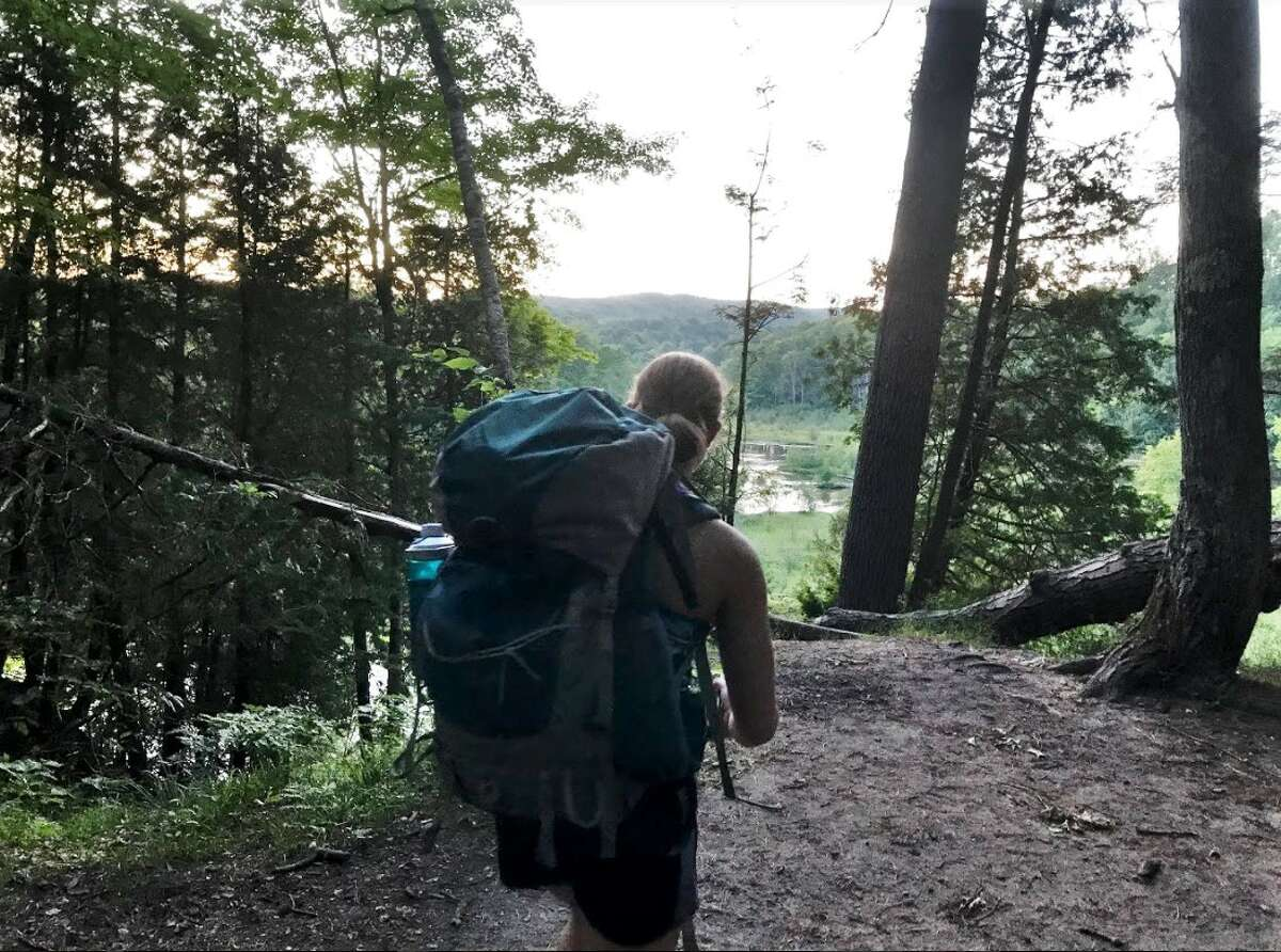 FILE - The Manistee River Trail is a great backpacking opportunity with many scenic views.