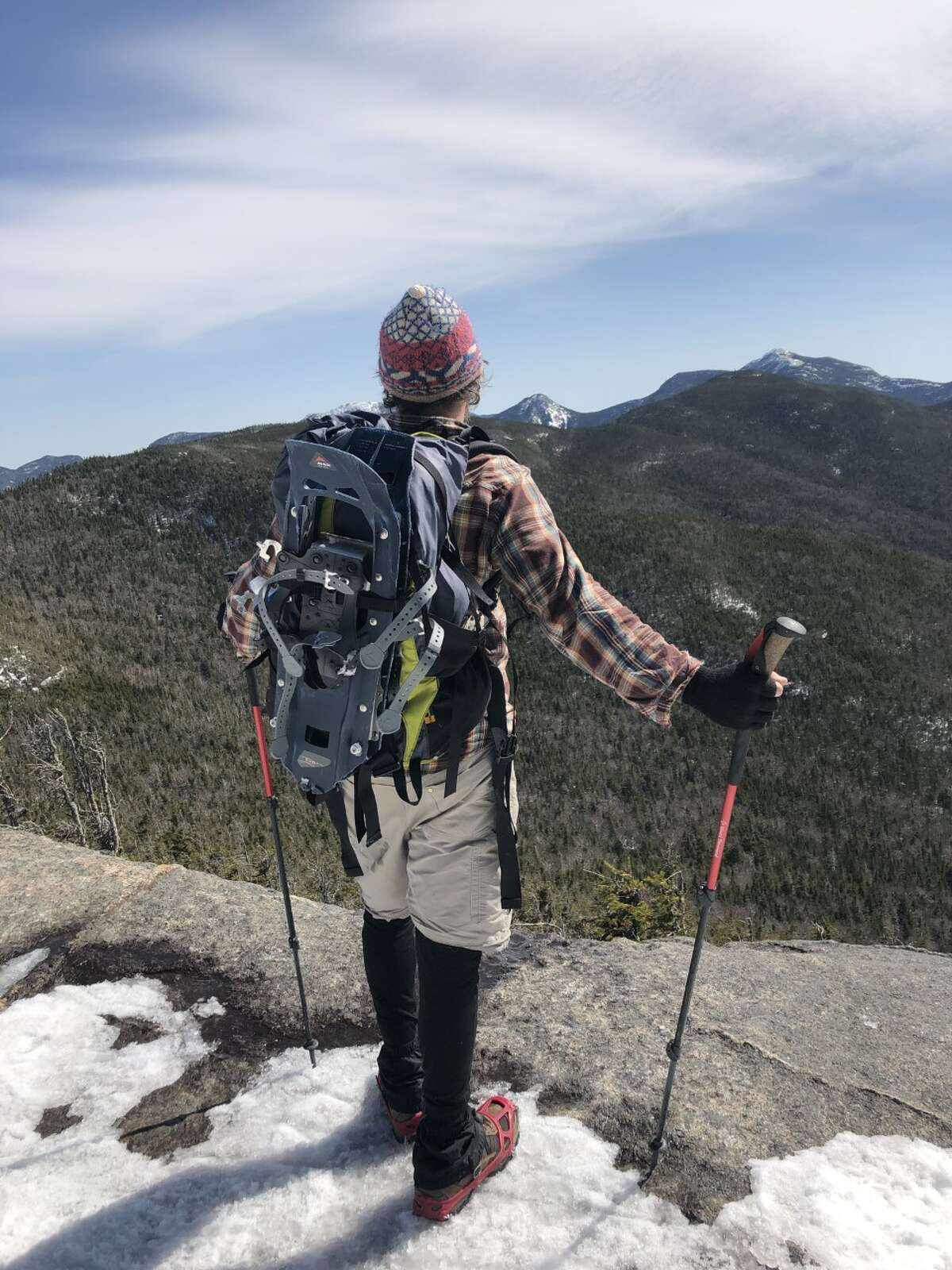 Author David Crews at the top of Phelps Mountain, one of the Adirondack High Peaks.