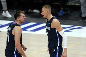 Luka Doncic is doubling up Kristaps Porzingis with his average of eight rebounds through four games against the Clippers.