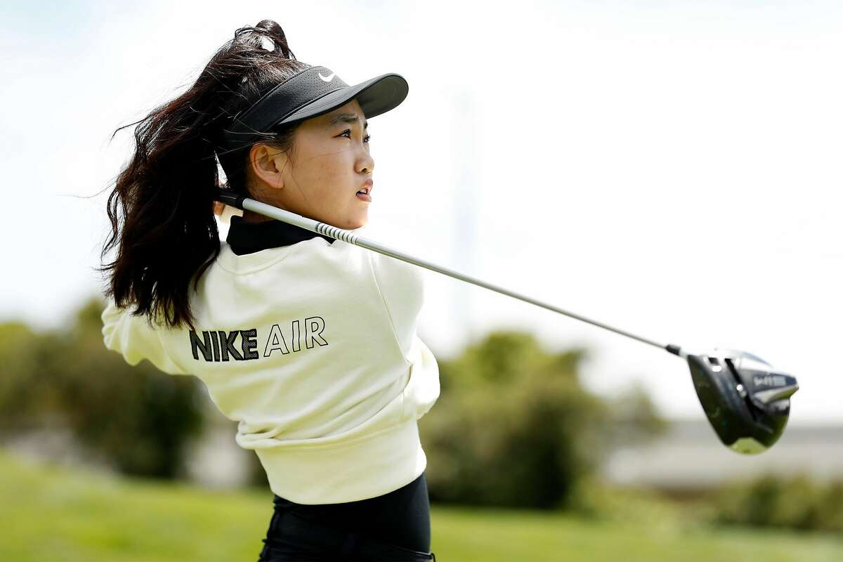 Redwood City golfer, Lucy Li, 18, will be playing in the upcoming Women's US Open in San Francisco. Photographed at Lake Merced Golf Club in Daly City, Calif., on Thursday, May 27, 2021.