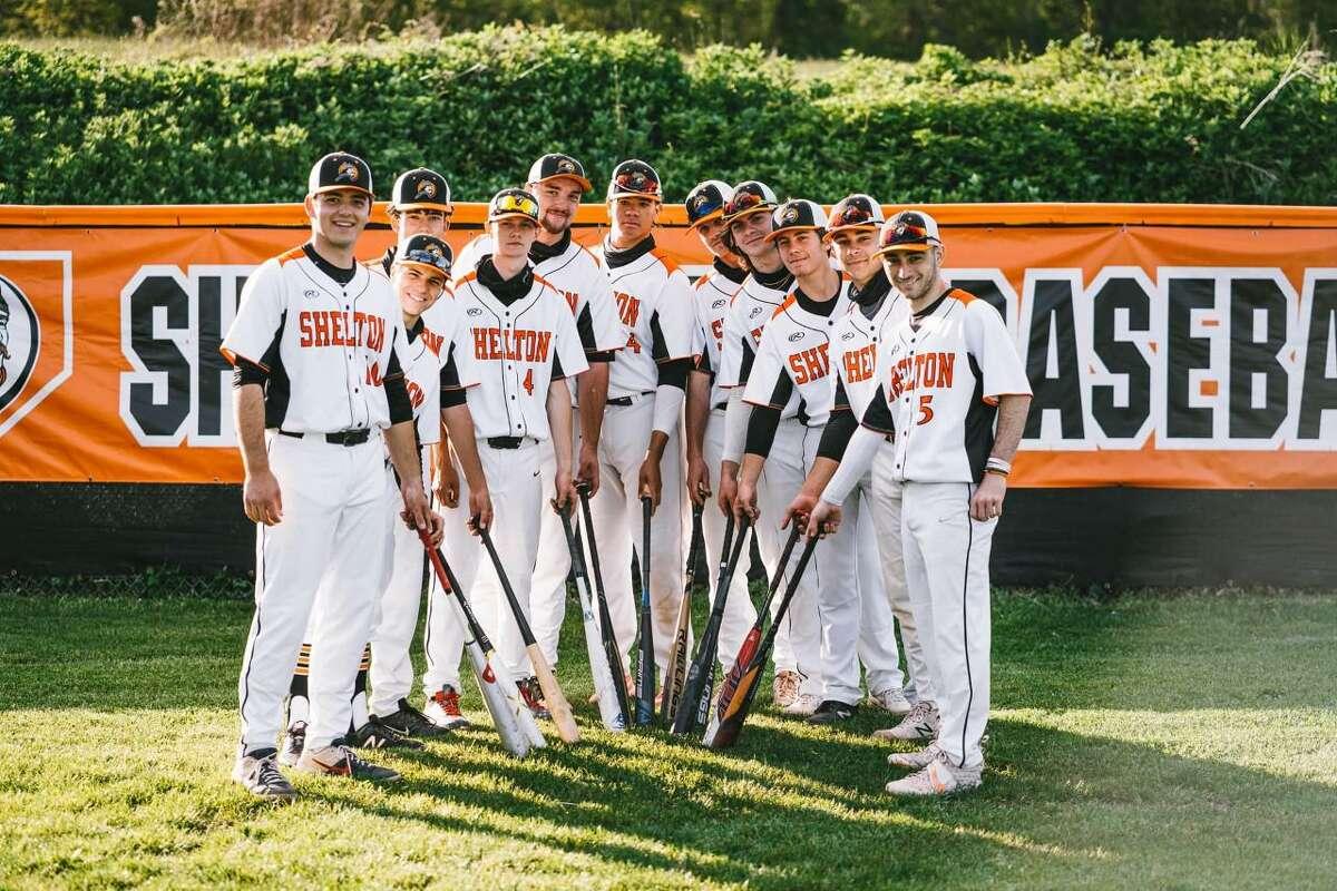 Varsity seniors on the Shelton High baseball team.