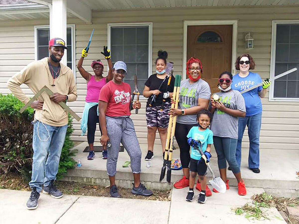 Anya Covington and her crew recently helped members of Rebuilding Together Southwest Illinois to build a wheelchair ramp in Collinsville.