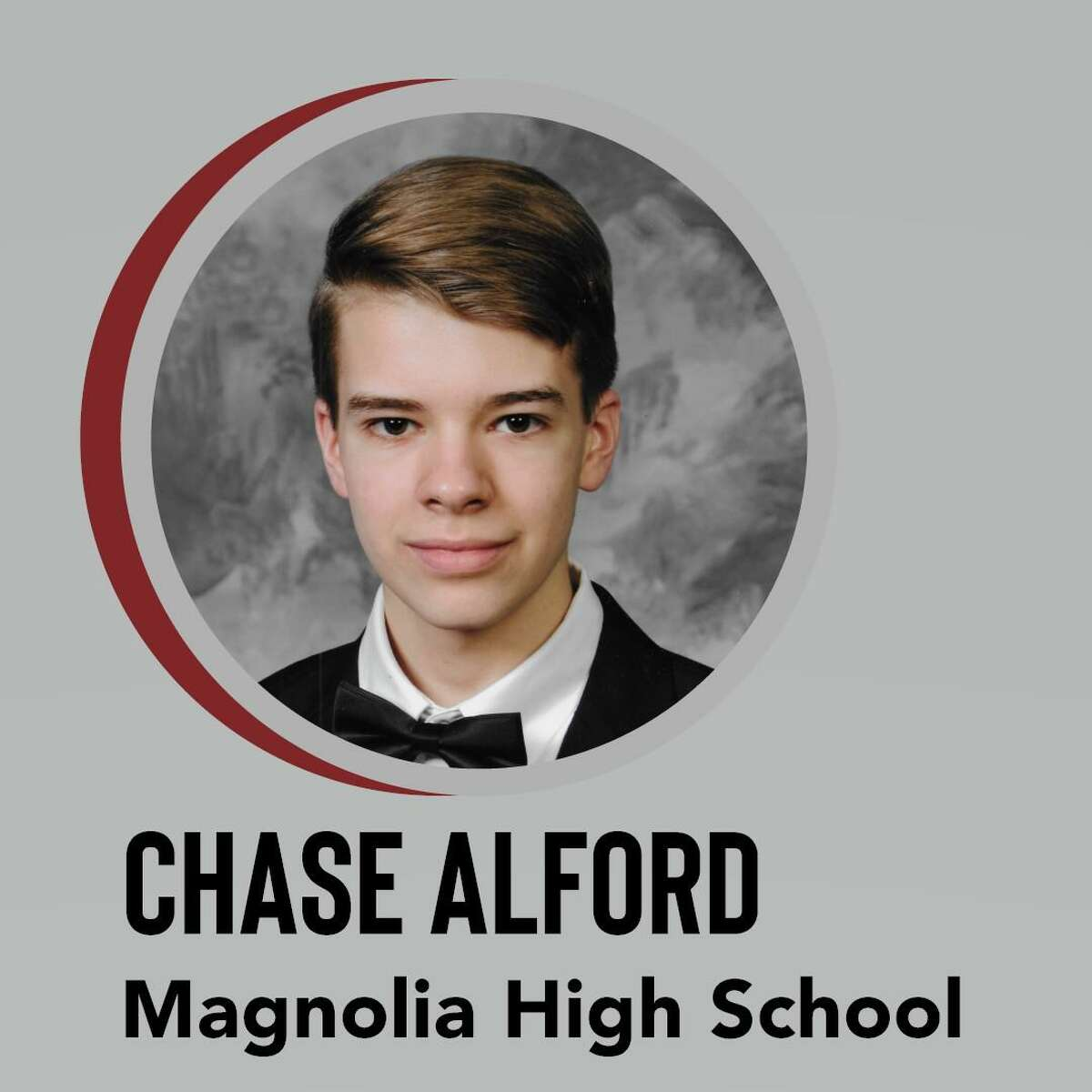 Magnolia High School Class of 2021 Valedictorian Chase Alford.