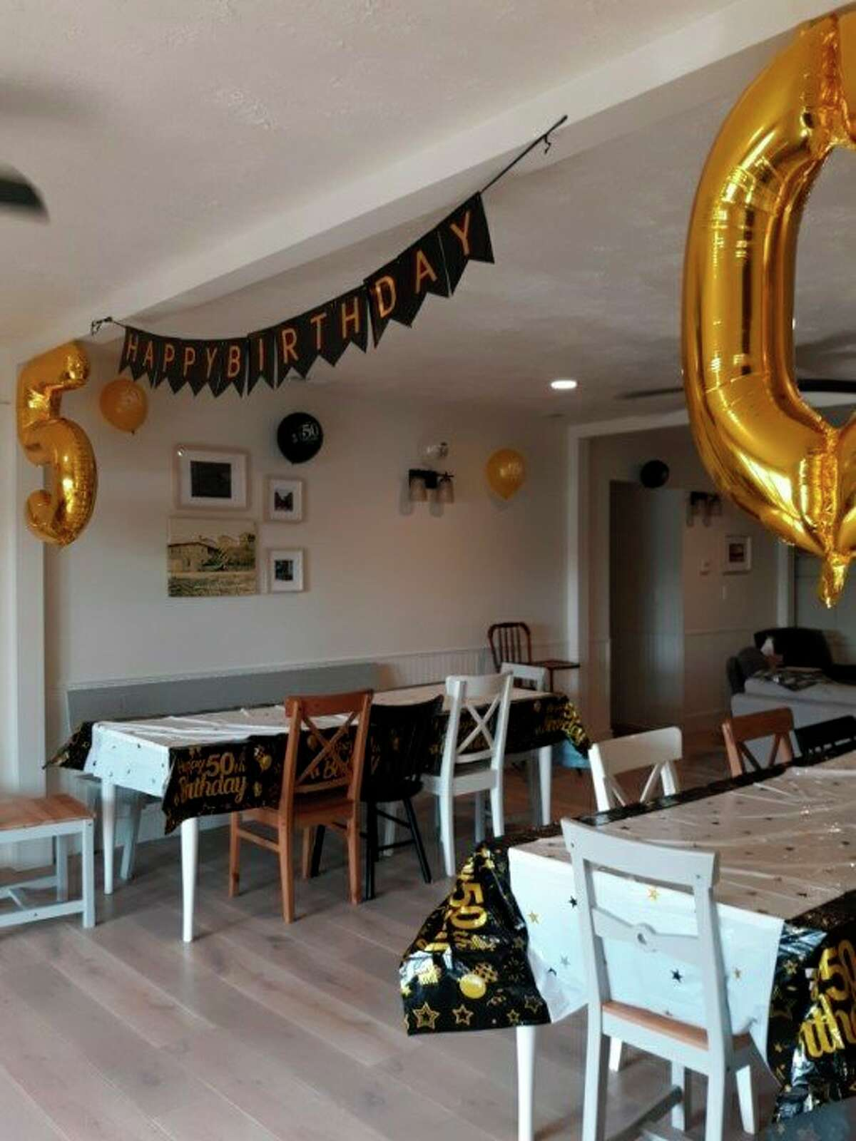 Birthday decorations for the celebration Lovina's children planned. (Courtesy photo)