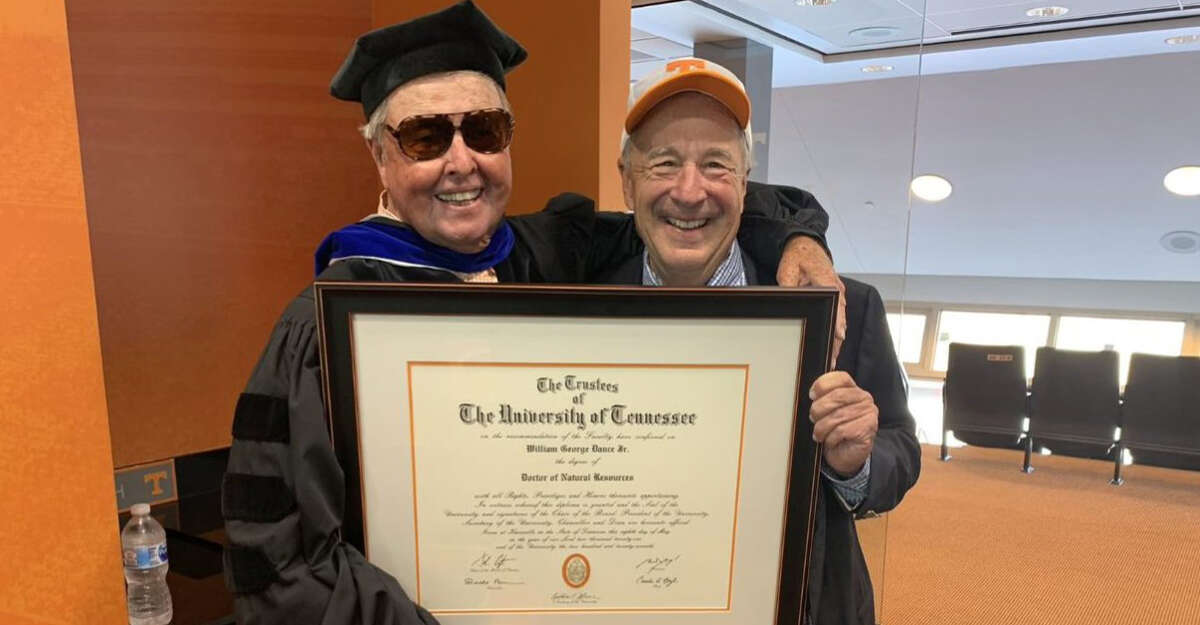 Bill Dance received an honorary doctorate from the University of Tennessee at a recent commencement ceremony.