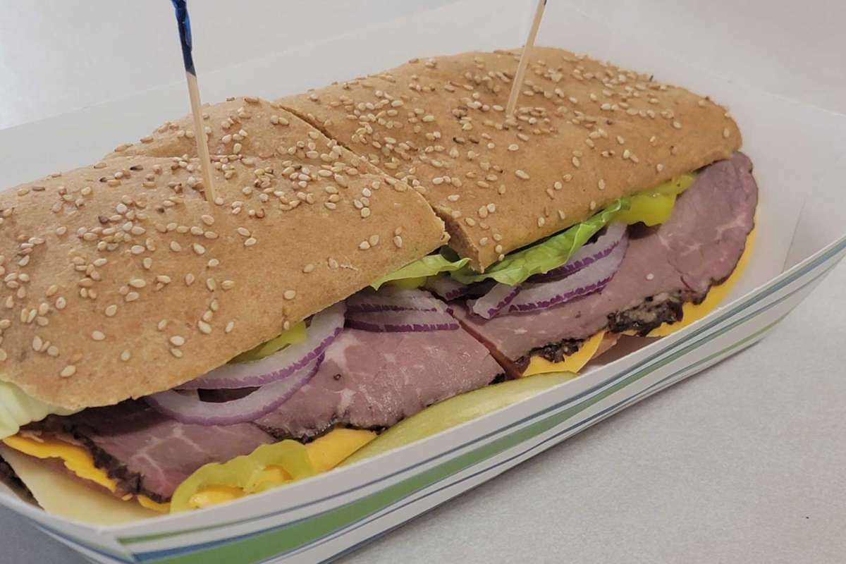 The Judy,which features ham, turkey, salami, roast beef, swiss and Colby cheese is one of East Shore Market's most popular sandwiches.