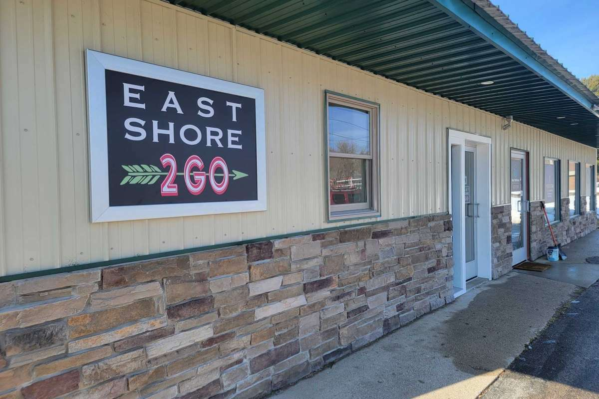East Shore 2GO, which offers a variety of tasty sandwiches, is located at the east end of Frankfort's Main Street.