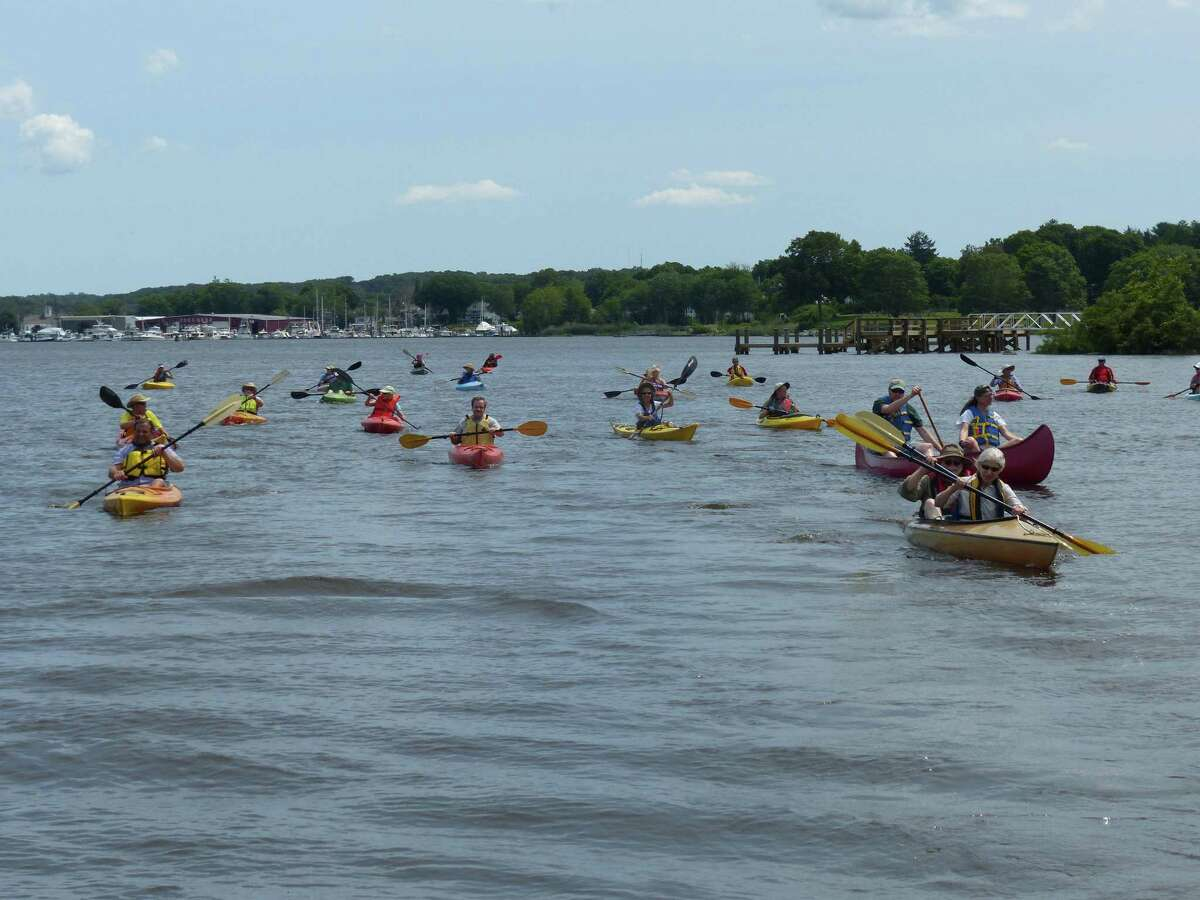 Kayakers and canoers on trip to South Cove.