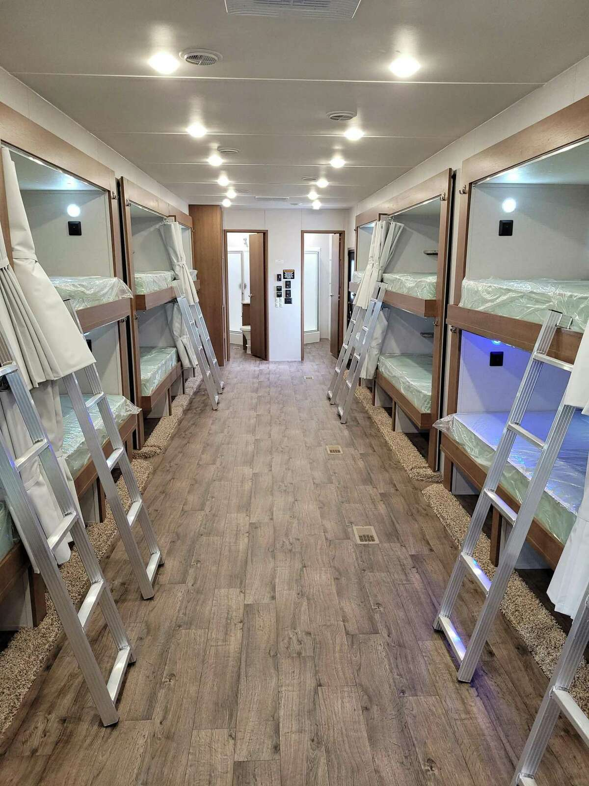 A 20 bunk unit that has individual amenities for each person and extra room so that crews do not feel cramped.