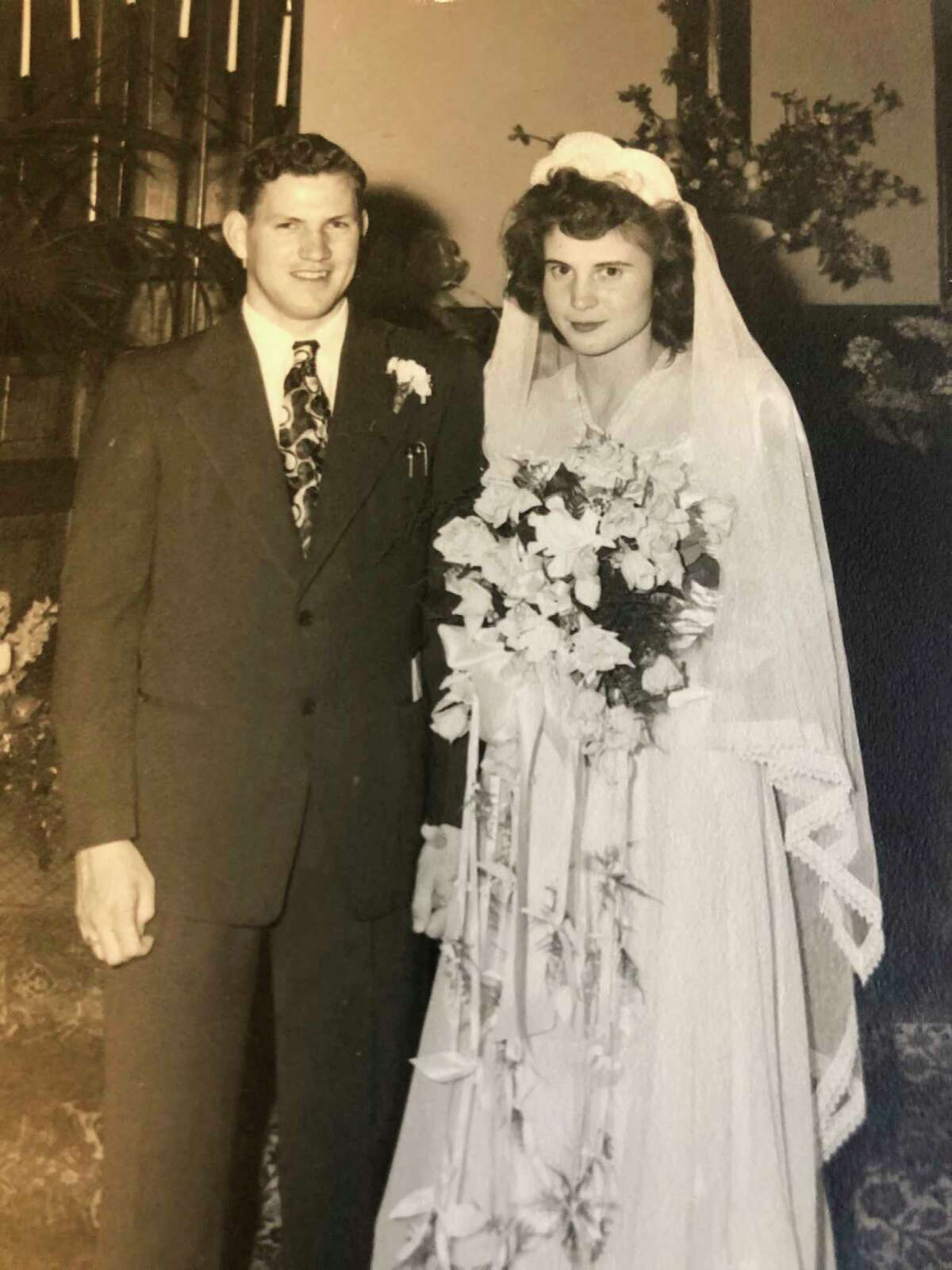 Wilbur Seamster and Leona Clark were married on May 29, 1947. They attended Sunday School at First Baptist (then in downtown Midland) together. Leona, then 8 years old, remembers Wilbur, then 12, putting his feet on the back of her chair which annoyed her no end. Their marriage endured for 72 years, with Wilbur passing away in 2019. (Photo provided)