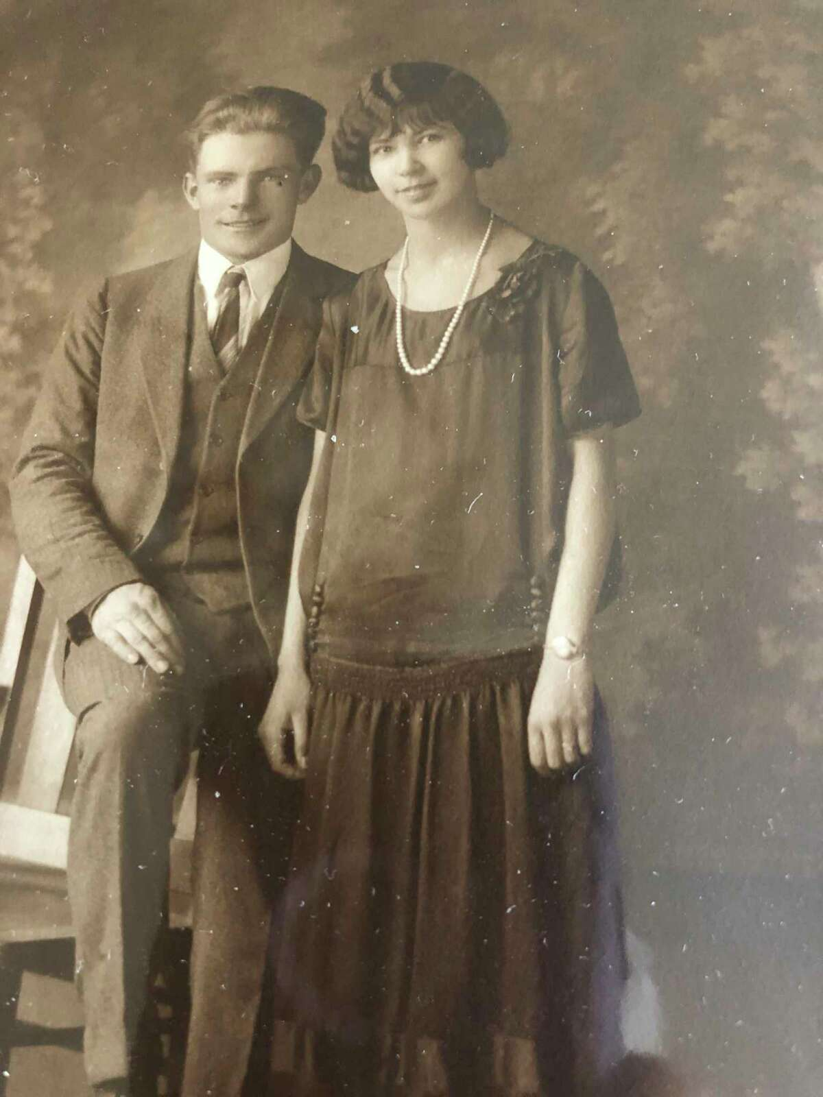 This is Frank Clark and Nellie DeJongh on their wedding day in 1925. Leona remembers lying in bed at night, falling asleep listening to her dad playing the guitar and singing. Frank's musical abilities have been passed on to his daughter, grandchildren and great-grandchildren. (Photo provided)