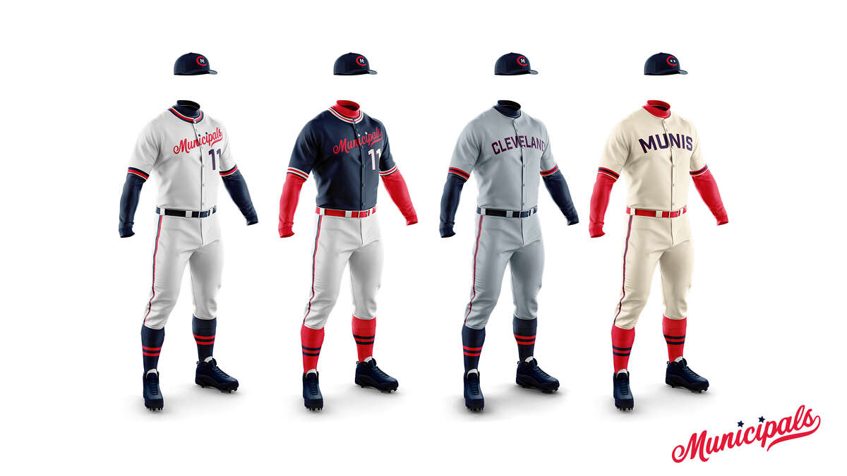 The uniform concept of the Cleveland Municipals continues the current team's appearance with