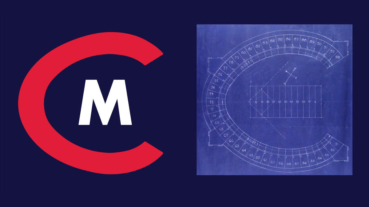 """The """"C"""" in the Cleveland Municipals logo takes on the shape of Cleveland's historic ballpark, Cleveland Municipal Stadium."""