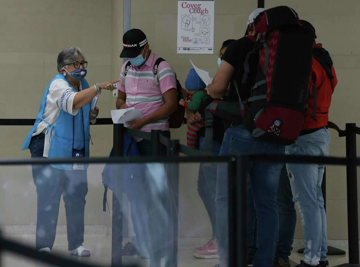 Interfaith Welcome Coalition volunteers help migrants at San Antonio Airport make their connections to final destinations and offer aid, toiletries and temporary housing when needed.