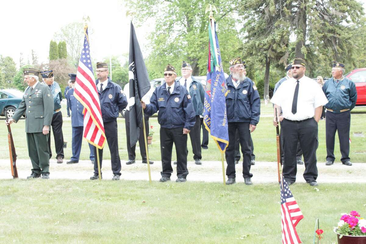 The Harbor Beach community honors veterans during a Memorial Day parade and ceremony Monday.