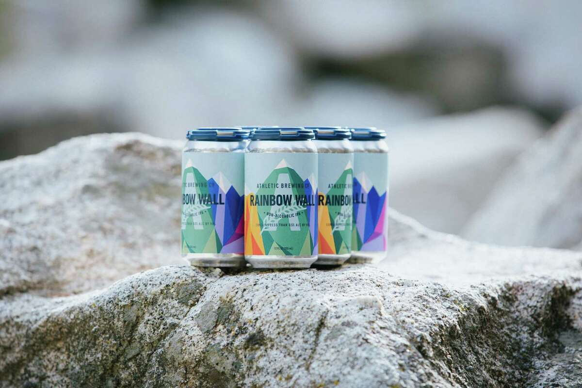 Rainbow Wall is Athletic Brewing's limited release IPA in support of LGBTQIA+ athletes.