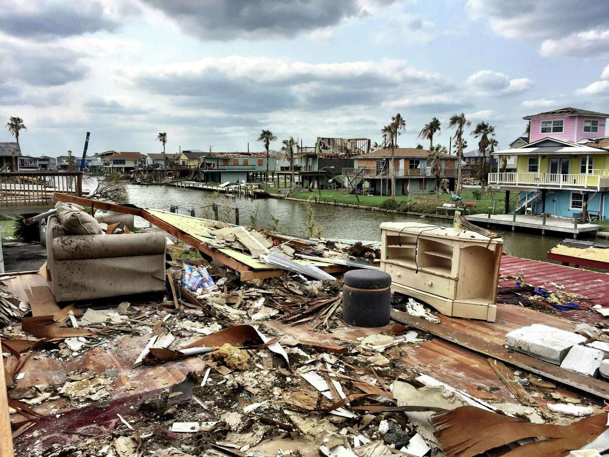 The Rockport home of Dr. J.J. and Sandy Diaz, after Hurricane Harvey devastated the city in 2017.