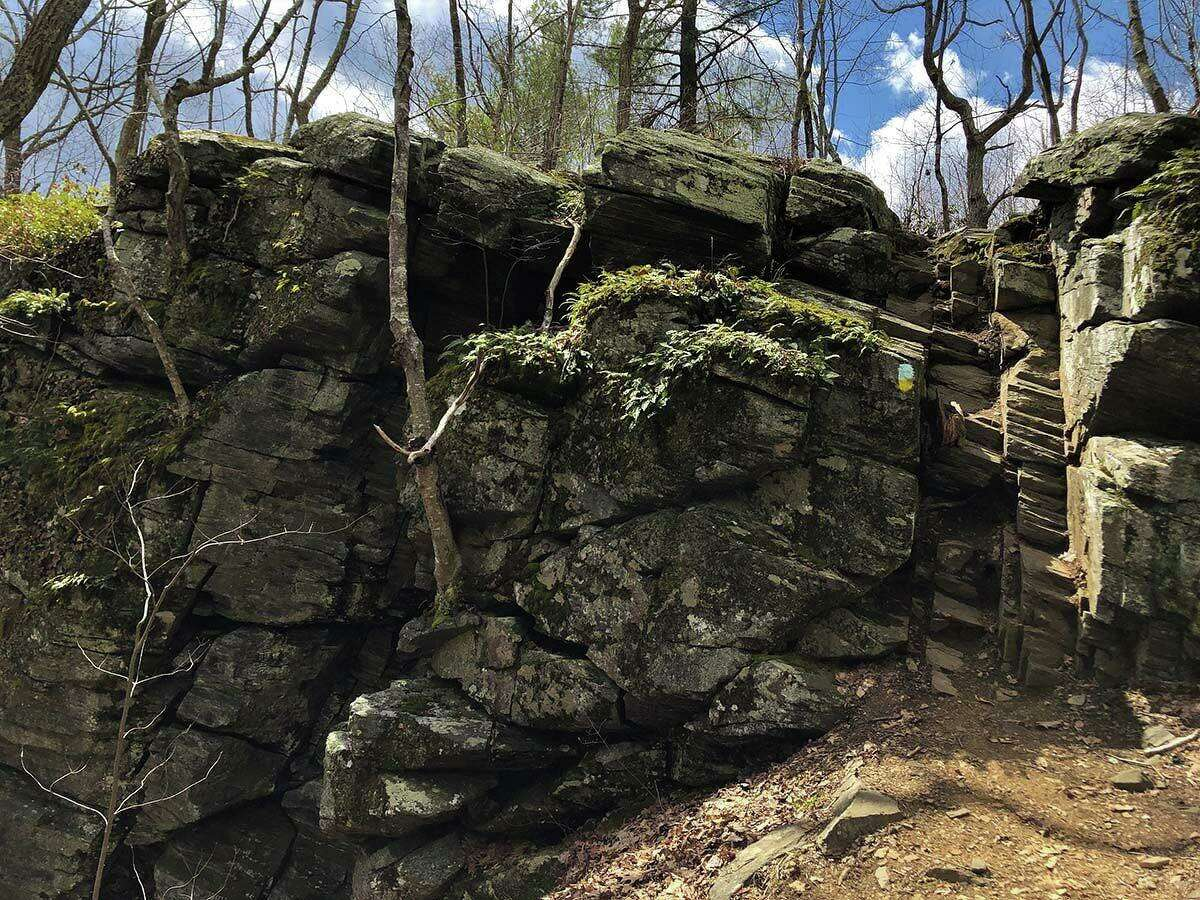 The Mile of Ledges trail is filled with rock scrambles.