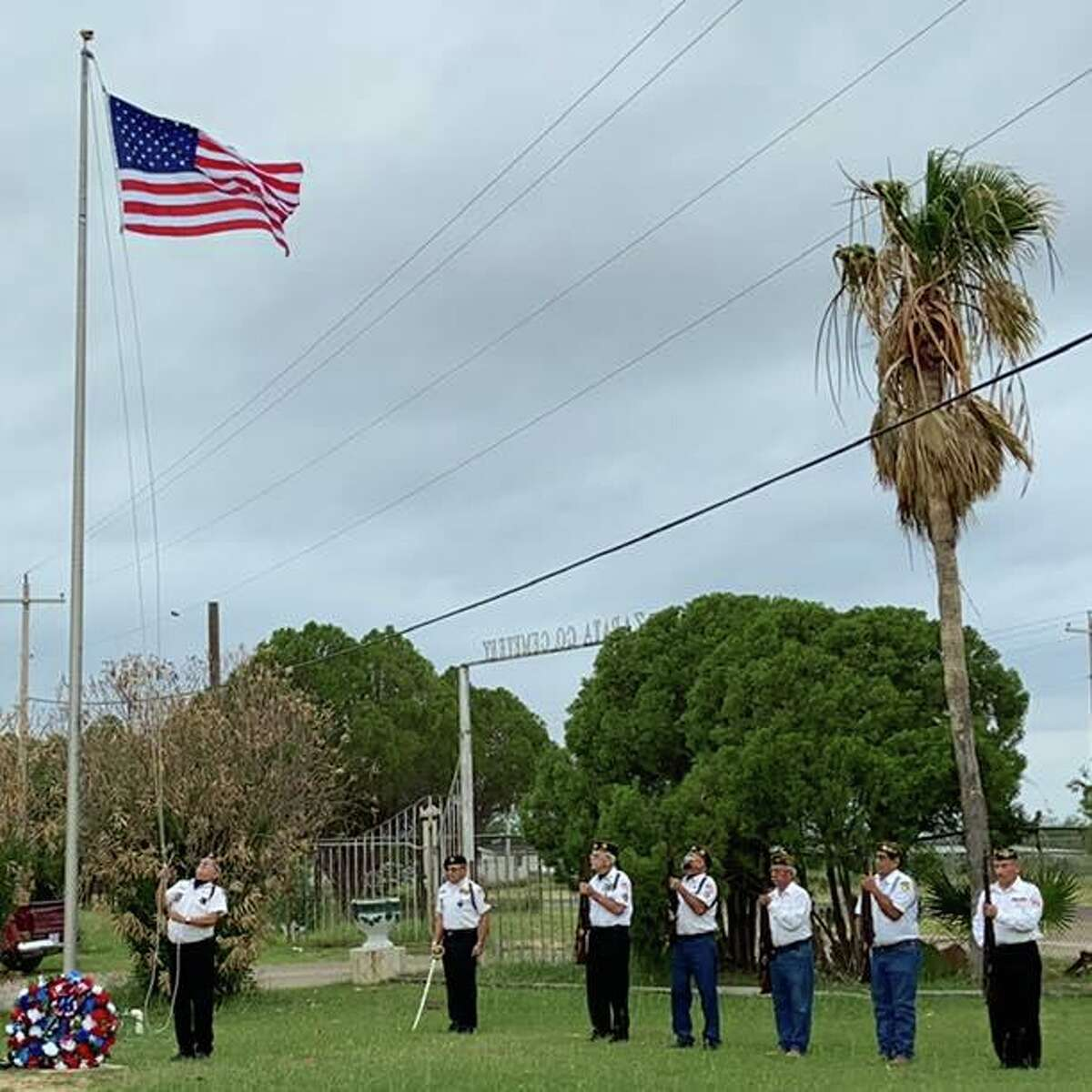 The Veterans of Zapata held a flag raising ceremony on Memorial Day at the Zapata County Cemetery.