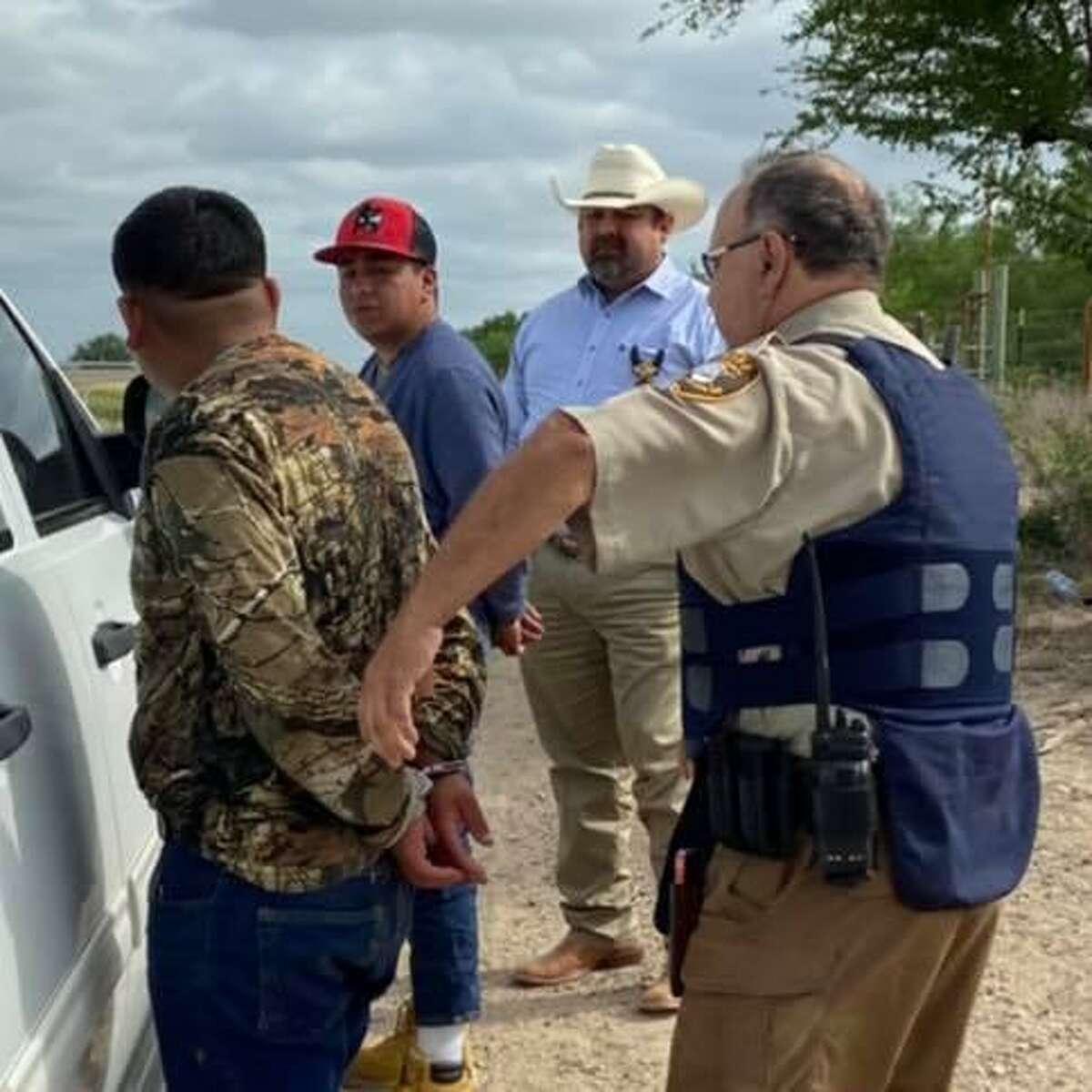 Zapata County Sheriff Raymundo Del Bosque Jr. apprehended two migrants while patrolling North U.S. 83.