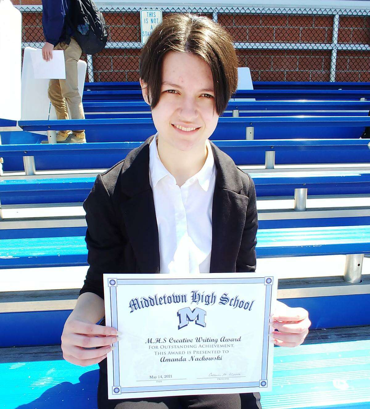 Middletown High School presented scholarships and various awards to students during a ceremony May 14. Amanda Nackowski took home the creative writing award.
