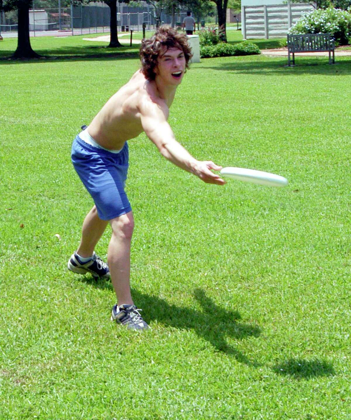 Disc golf has long been popular in Friendswood, as is shown in this 2005 photo of Kyle Whigham playing in Stevenson Park. A new course opens this month on Shadwell.