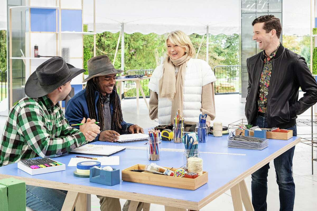 Pequignot and other contestants with Martha Stewart