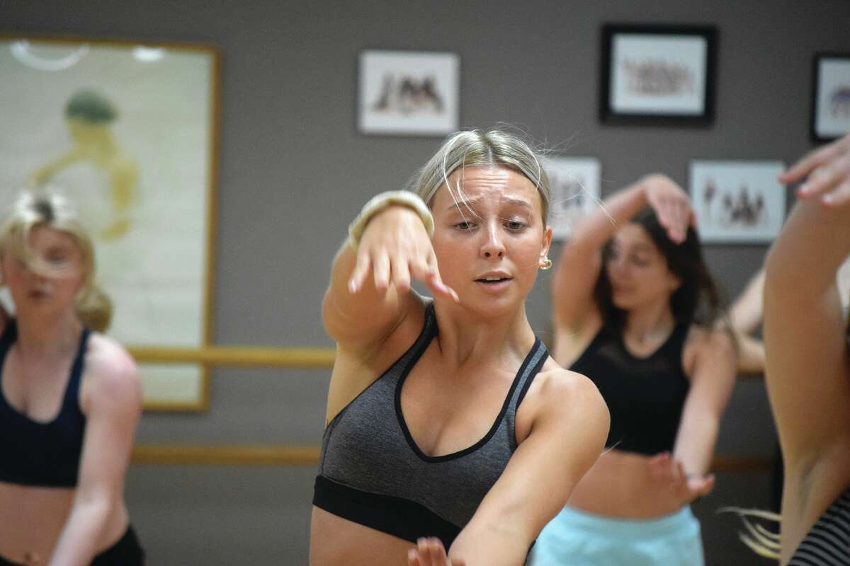 Ava Lahey practices a routine Tuesday at Sara's Studio of Dance. Lahey has been selected to audition for the Dallas Cowboys Cheerleaders.