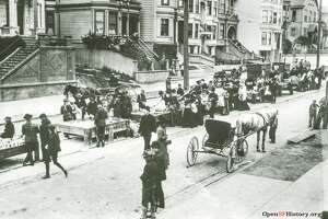 San Francisco homes on Page Street in 1906.