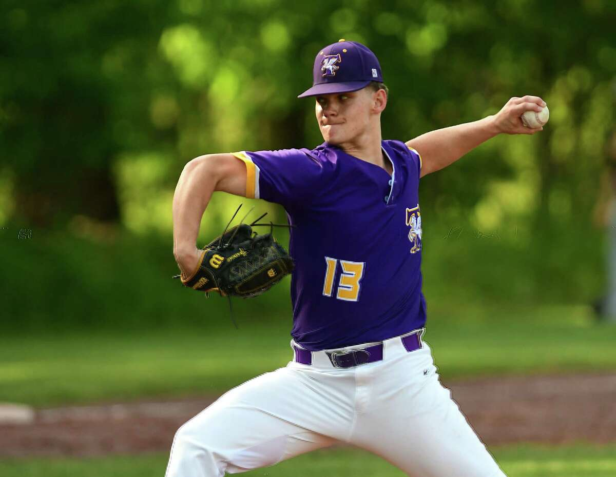 Troy pitcher Mike Kennedy throws the ball during a baseball game against Averill Park on Tuesday, June 1, 2021 in Averill Park, N.Y. Kennedy threw a no-hitter. (Lori Van Buren/Times Union)