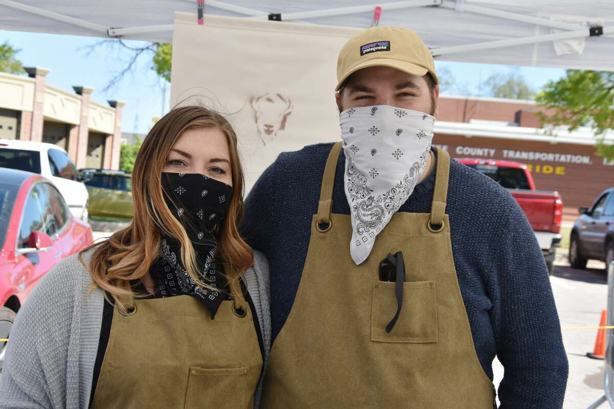 Rebecca Herd and Jonathon Alfano, co-owners of Stohlistic Bison, had a booth where they could be seen selling hand-crafted products like serums, oils and salves at the Manistee Farmers Market on Saturday.