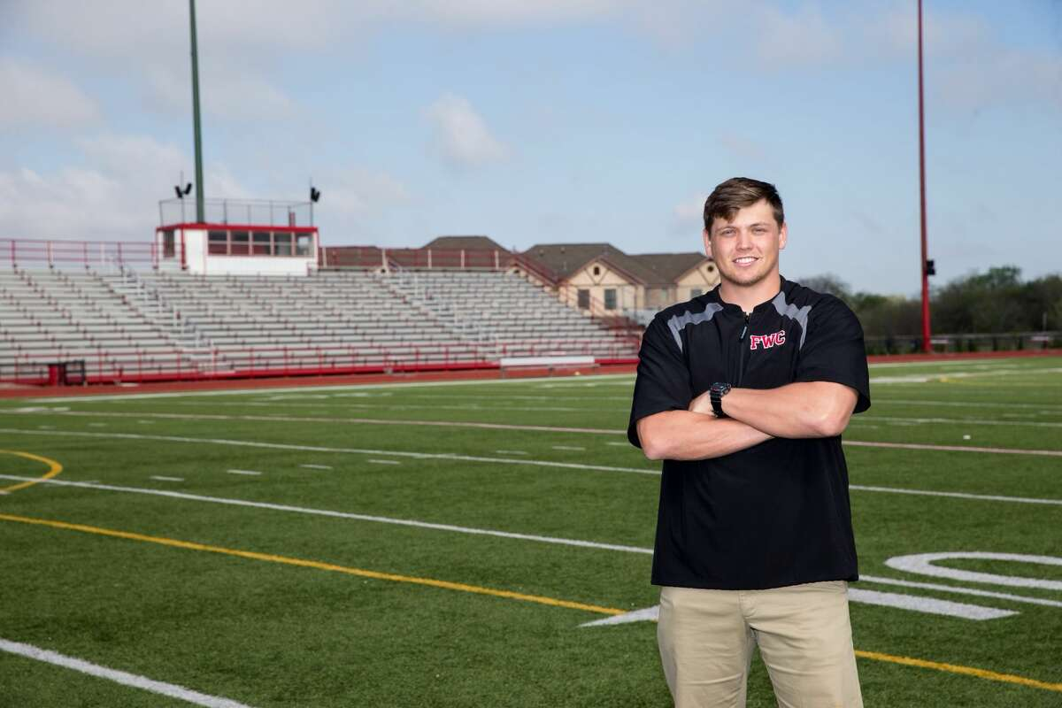 Grant Davis, pictured here with Fort Worth Christian, has returned to coach for his alma mater Midland Christian, as a head track coach, football assistant and college recruiting coordinator.