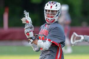 Niskayuna attacker Brock Behrman during a Suburban Council matchup against Burnt Hills Ballston Lake at Burnt Hills Ballston Lake High School on Tuesday, June 1, 2021 (Jim Franco/Special to the Times Union)