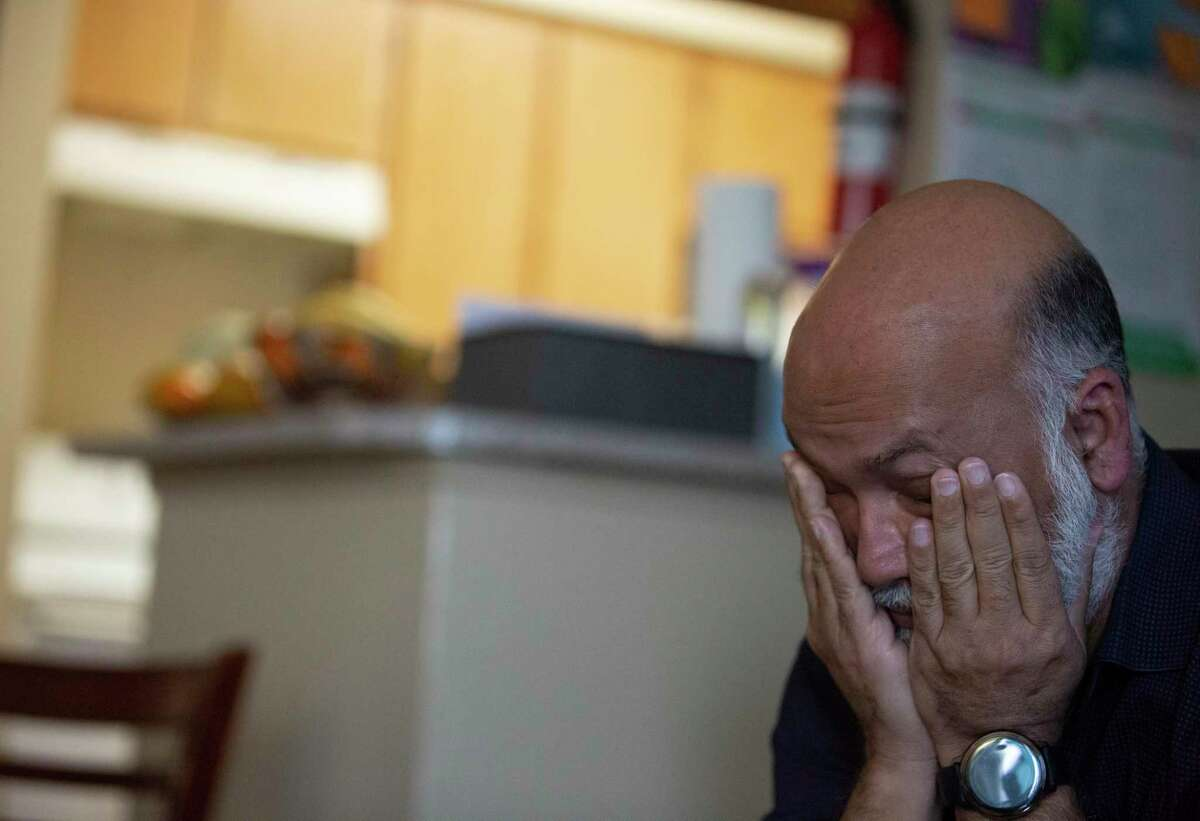 """Sam Mitu feels the stress for his brother's family when his brother, Khandaker Rahman, 55, tells the """"nightmare"""" of a sexual assault case against him Monday, April 26, 2021, in Houston."""