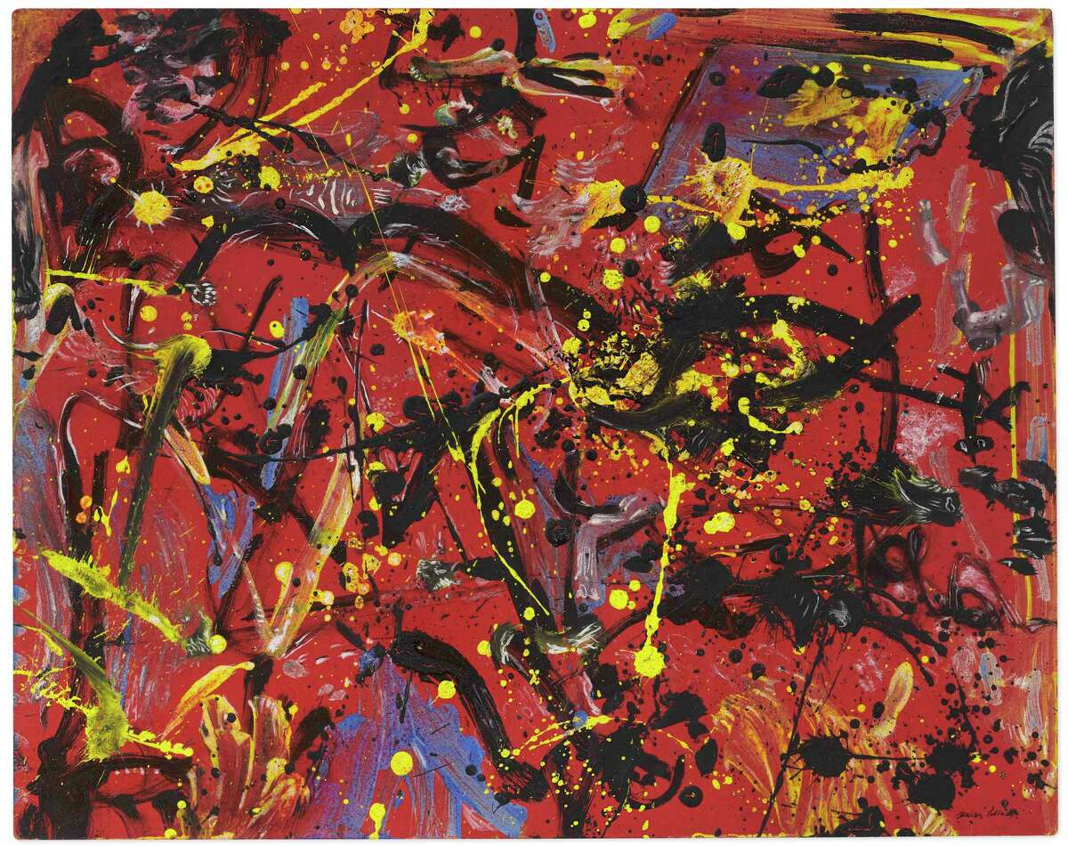 """Christie's auction house brokered the sale of the 1946 Jackson Pollock painting """"Red Composition"""" for $12 million in October. The painting was in the collection of the Everson Museum of Art in Syracuse, which says it is trying to build a collection more relevant to its community."""