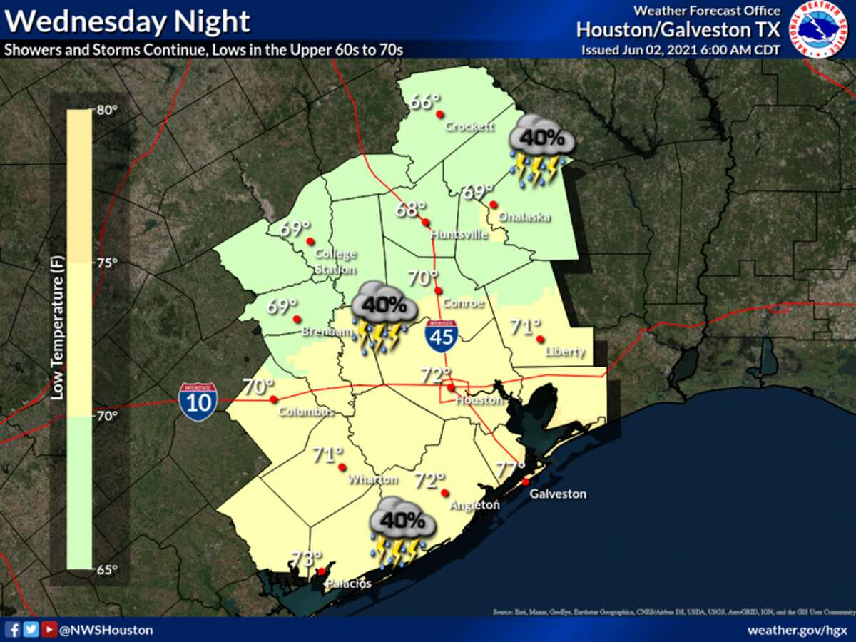 Here's where rain chances are greatest on Wednesday.