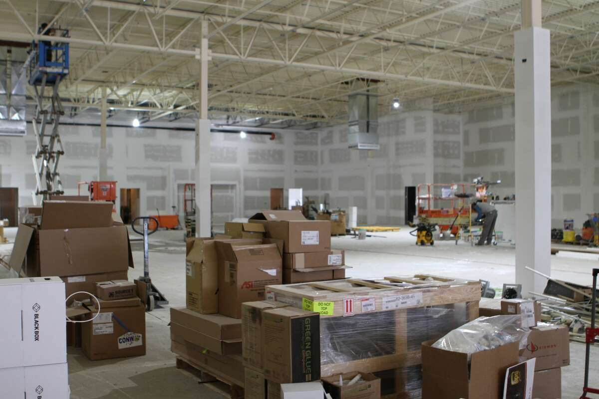 Construction is underway for a new Marshall's store that will be opening in September in the Ferris commons shopping center, the 22,000-square-foot space was formerly occupied by MC Sporting Goods and has been vacant for the last four years.