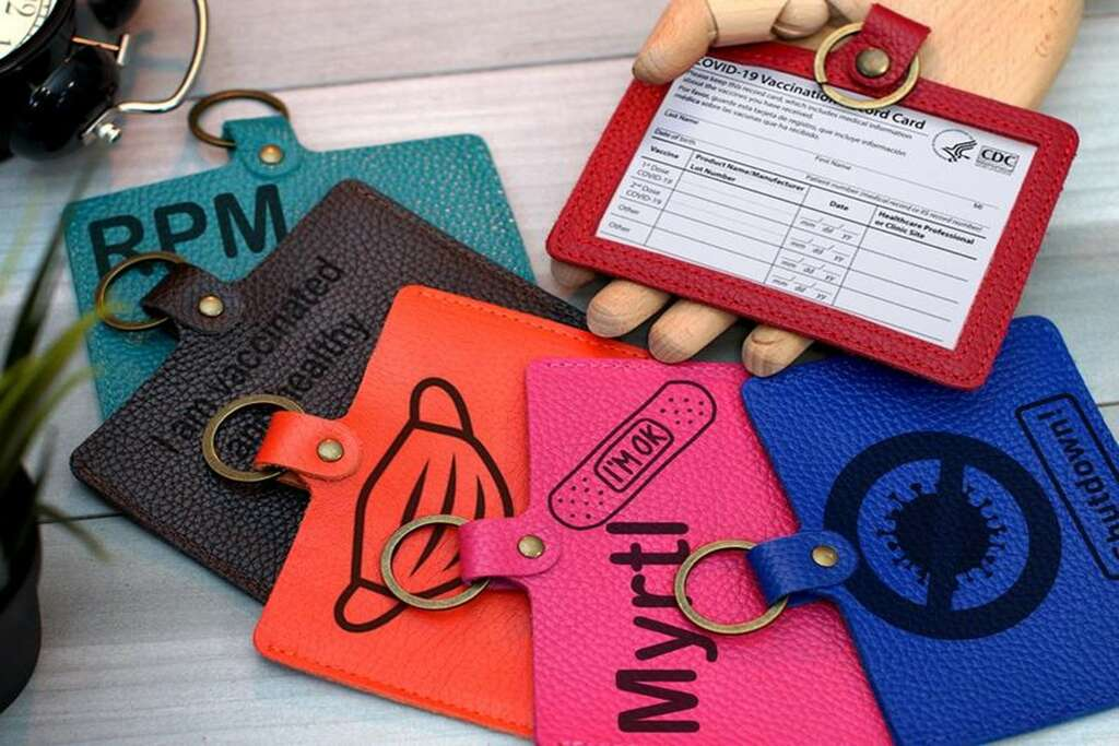 Protect your shot record with a vaccination card holder.