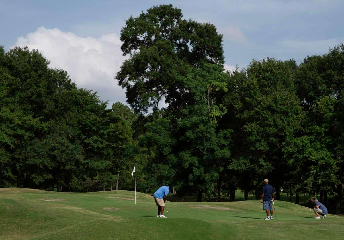 The Champion Rotary Golf Tournament is scheduled for June 11 at Longwood Golf Club. Showne here: People play golf at Longwood Golf Club Tuesday, June 30, 2020, in Cypress.